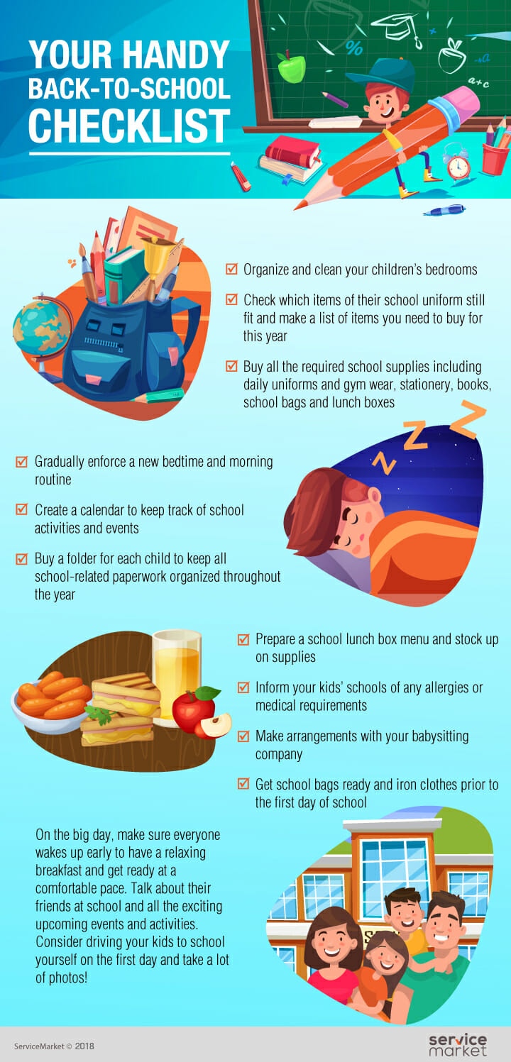 Your handy back-to-school checklist -Infographic