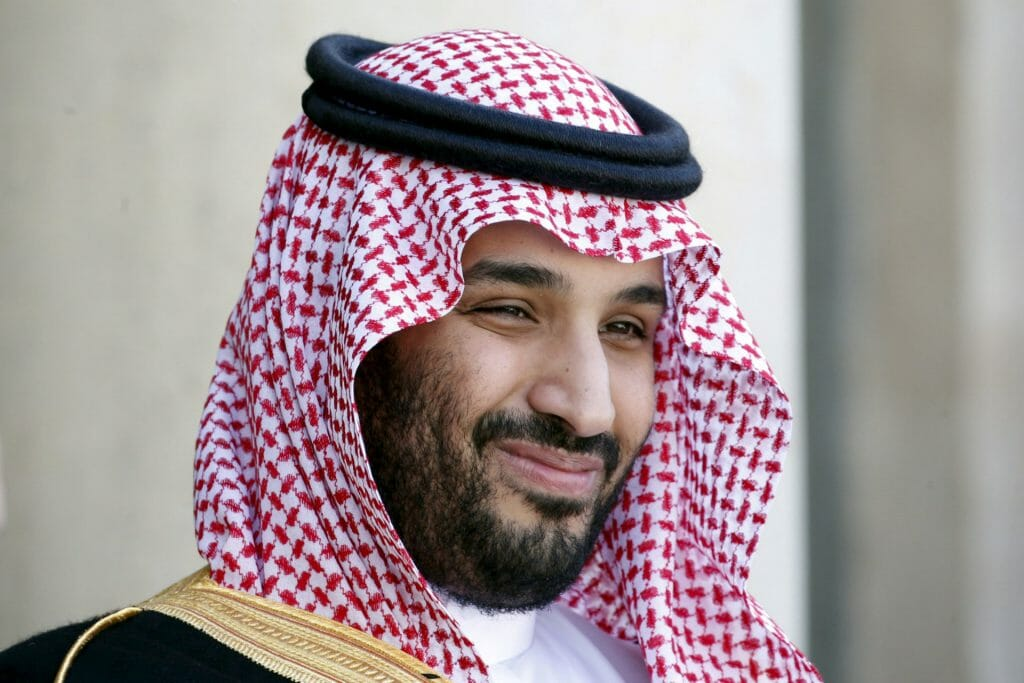 Saudi Arabia's Deputy Crown Prince Mohammed bin Salman reacts upon his arrival at the Elysee Palace in Paris, France. (Image: Reuters)